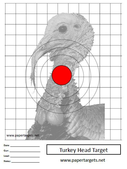 Striking image throughout turkey target printable